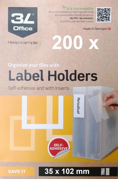 3L Label holders - 35 x 102 mm