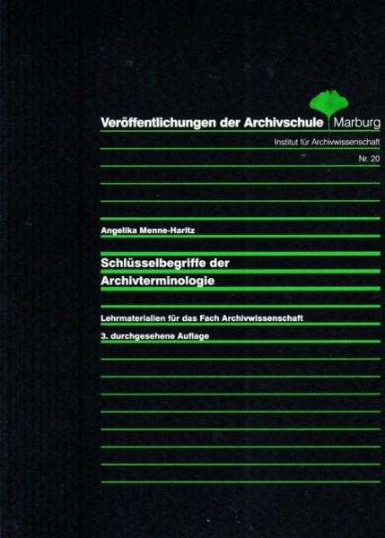 Schlüsselbegriffe der Archivterminologie