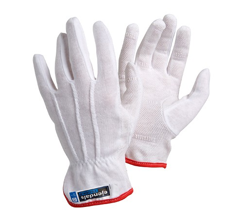 Cotton gloves 10, with Vinyl nubs