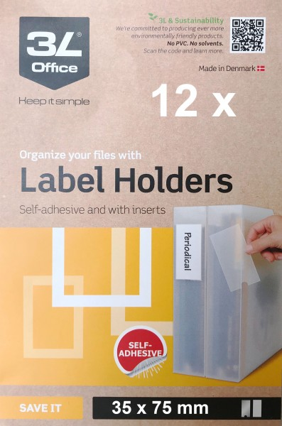 3L Label holders - 35 x 75 mm
