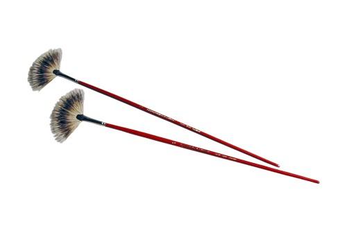 Brosse éventail - poils de blaireau, Taille 1