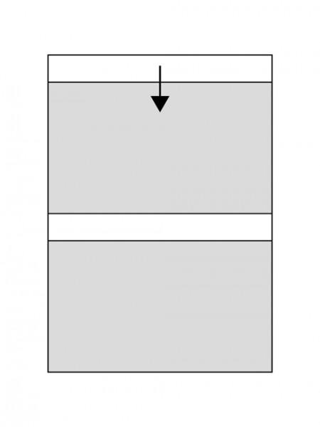 CHRONOLUX Einsteckkarte DIN A4 - 2 Streifen 20 x 12,3