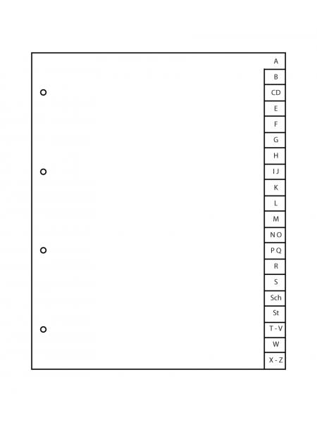 Registerblatt A-Z