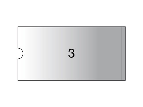 3L Label holders - 75 x 150 mm