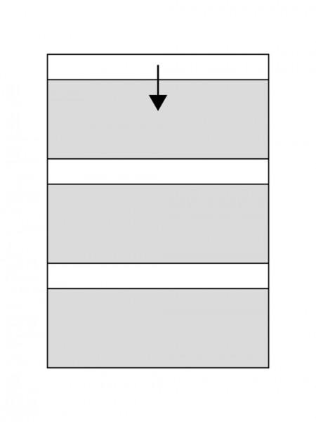 CHRONOLUX DIN A4 carte de classement - 3 bandes 20 x 7,5