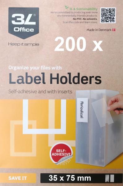 3L Porte-étiquettes - 35 x 75