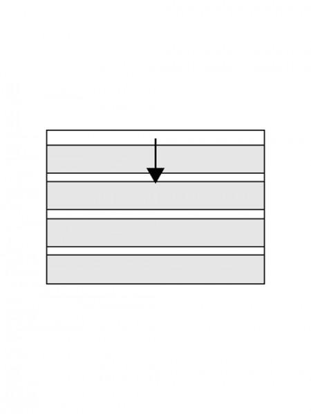 CHRONOLUX carte de classement - 4 bandes 20 x 2,2