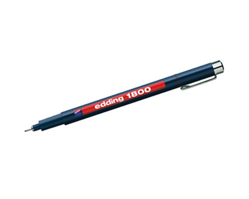 "Fade-proof pen ""Edding 1800"" - red 0,5"