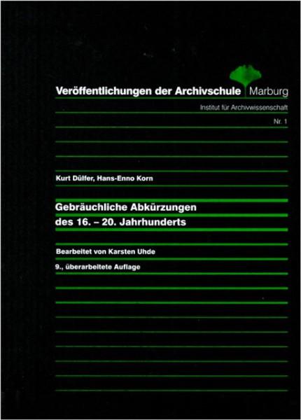 Gebräuchliche Abkürzungen des 16.-20. Jahrhunderts