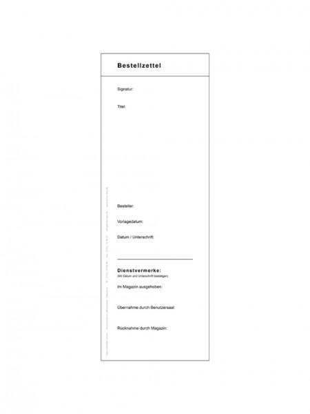 Bestellzettel (allemand)