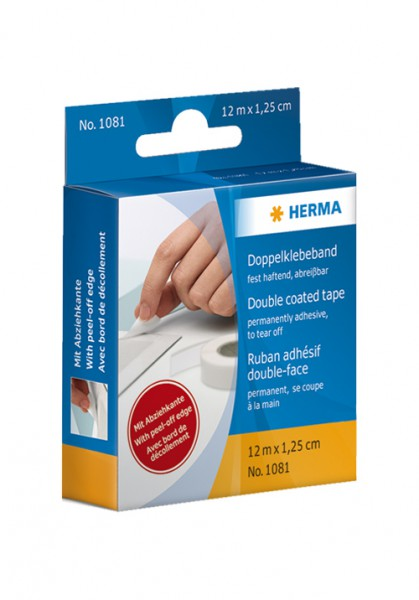 HERMA Self-adhesive, double-sided tape - 12 m
