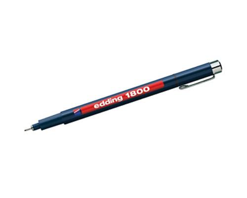 "Fade-proof pen ""Edding 1800"" - red 0,7"